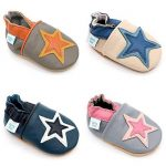 Dotty Fish Soft Leather Baby and Toddler Shoes. Boys and Girls. Stars. 0-6 Months - 4-5 Years de la marque Dotty Fish image 1 produit